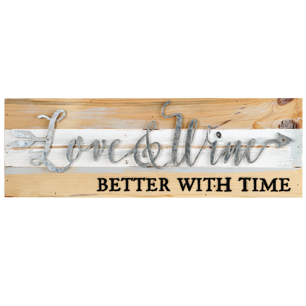 LOVE & WINE BETTER WITH TIME SIGN