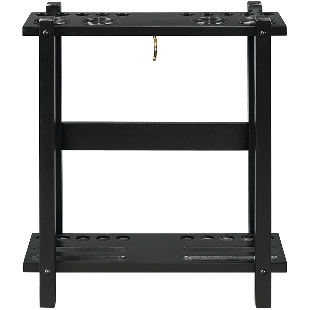 STRAIGHT FLOOR CUE RACK-BLACK