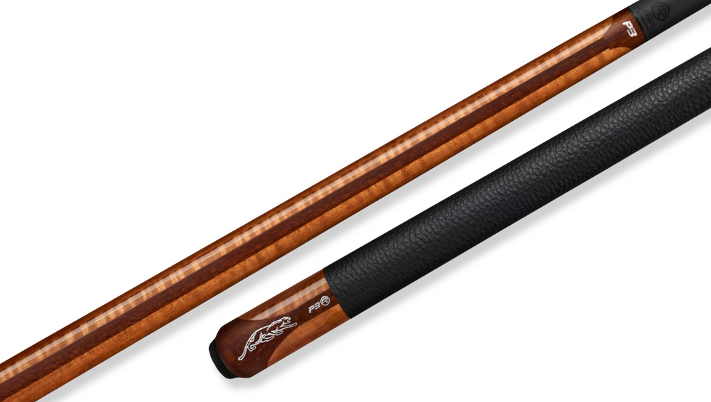 Predator Limited P3 REVO Mélange Golden Oak Curly Maple / Leopard Wood Pool Cue - Leather Luxe Wrap