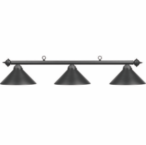 "54"" 3LT BILLIARD LIGHT- MATTE BLK/MB"
