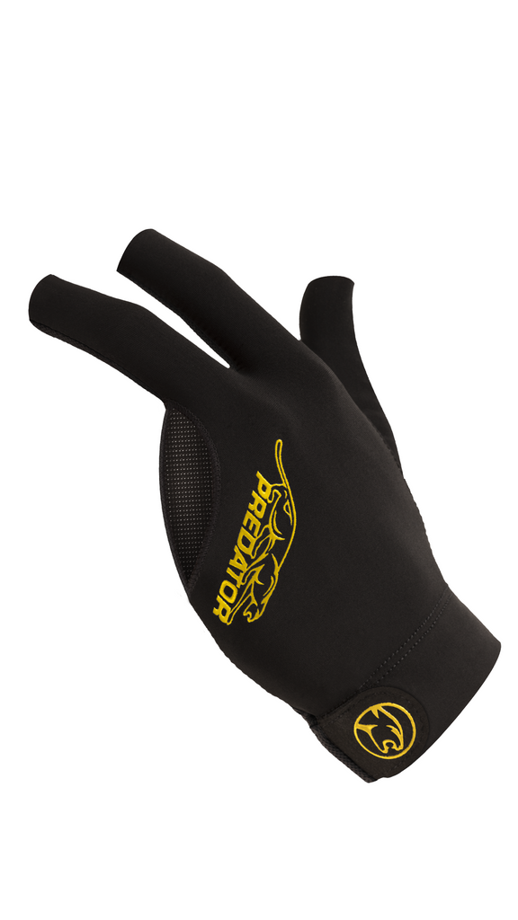 Predator Second Skin Billiard Gloves - Black Yellow