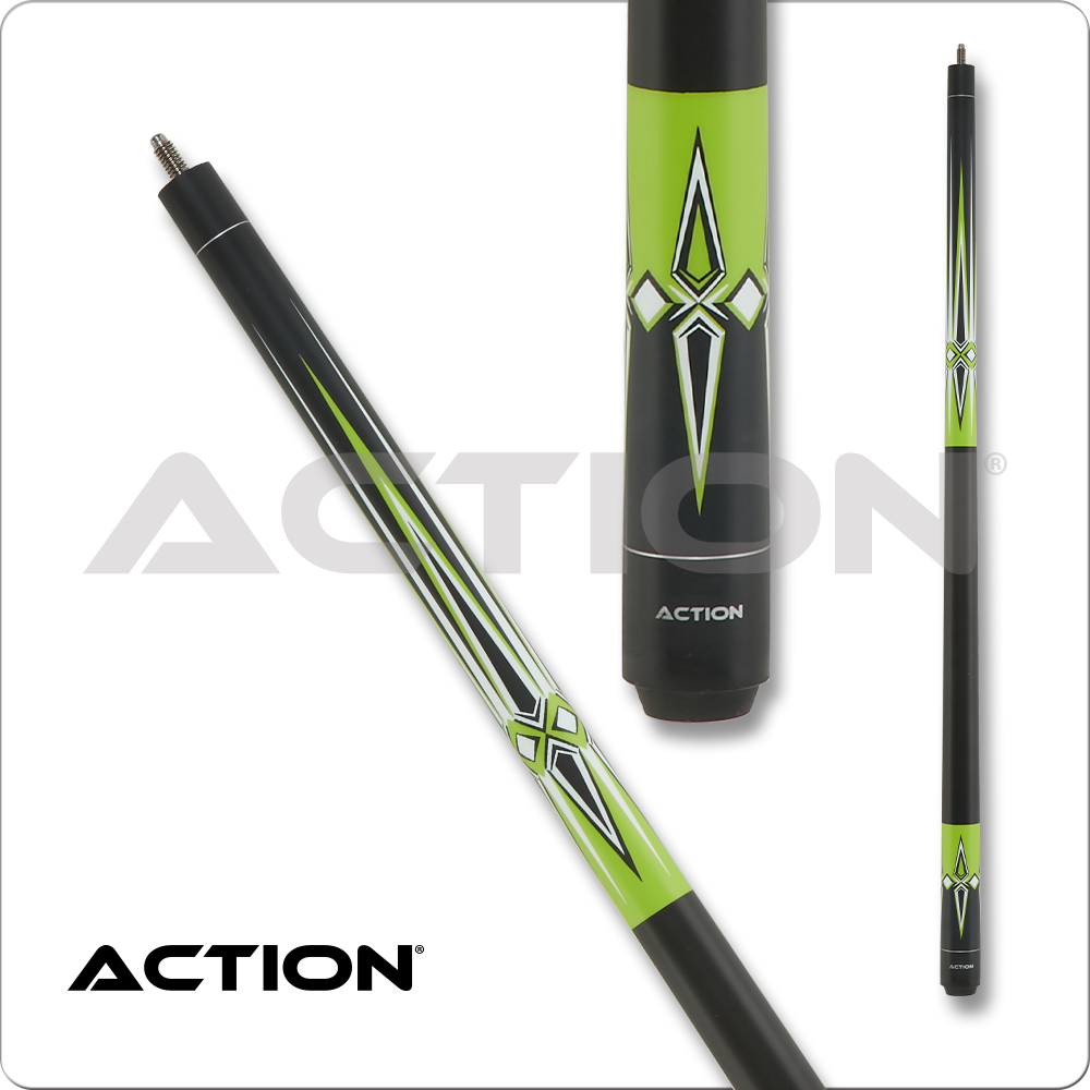 Action Impact Black and Lime Green Matte IMP61