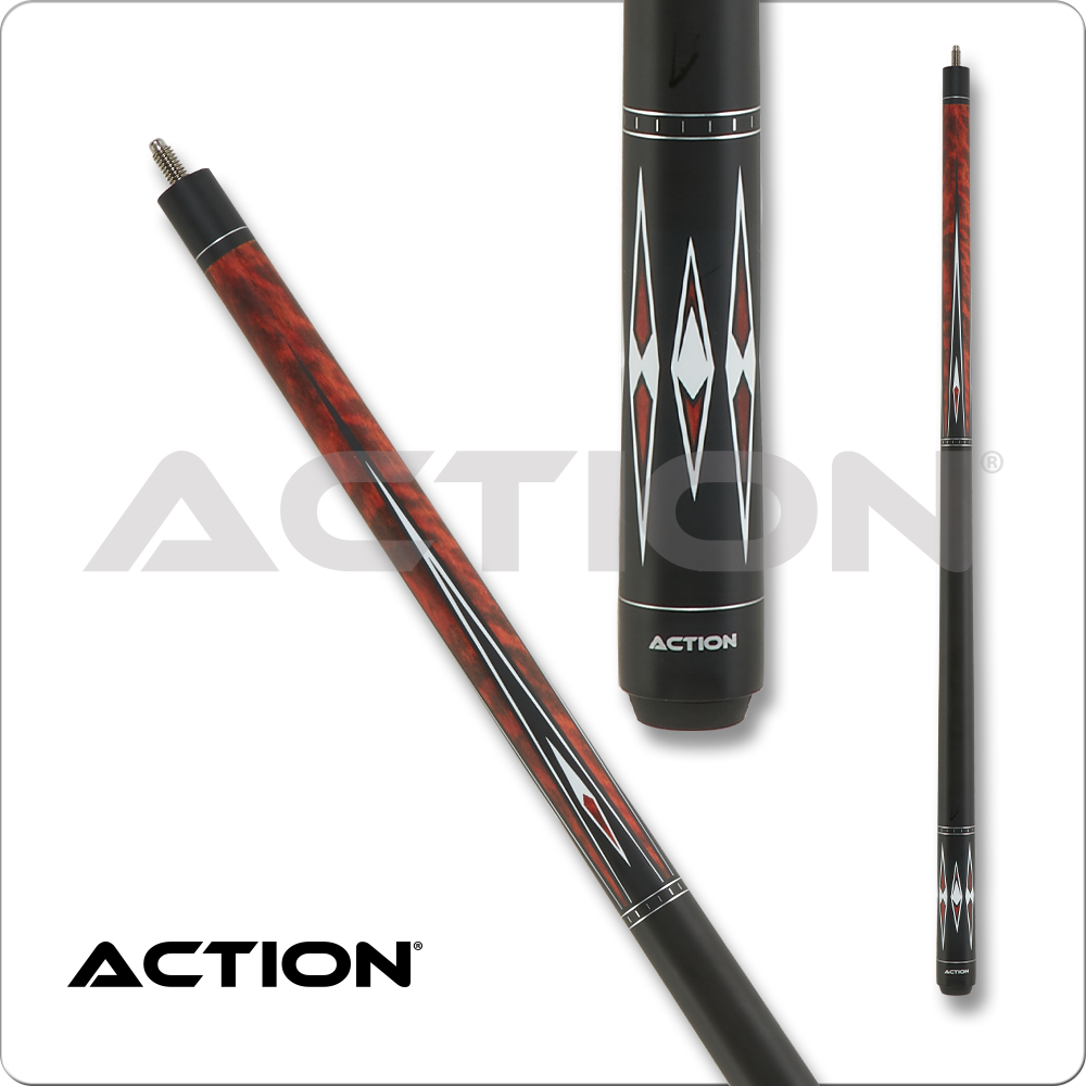 Action Classic Burgundy w/ Black & White Points ACE08