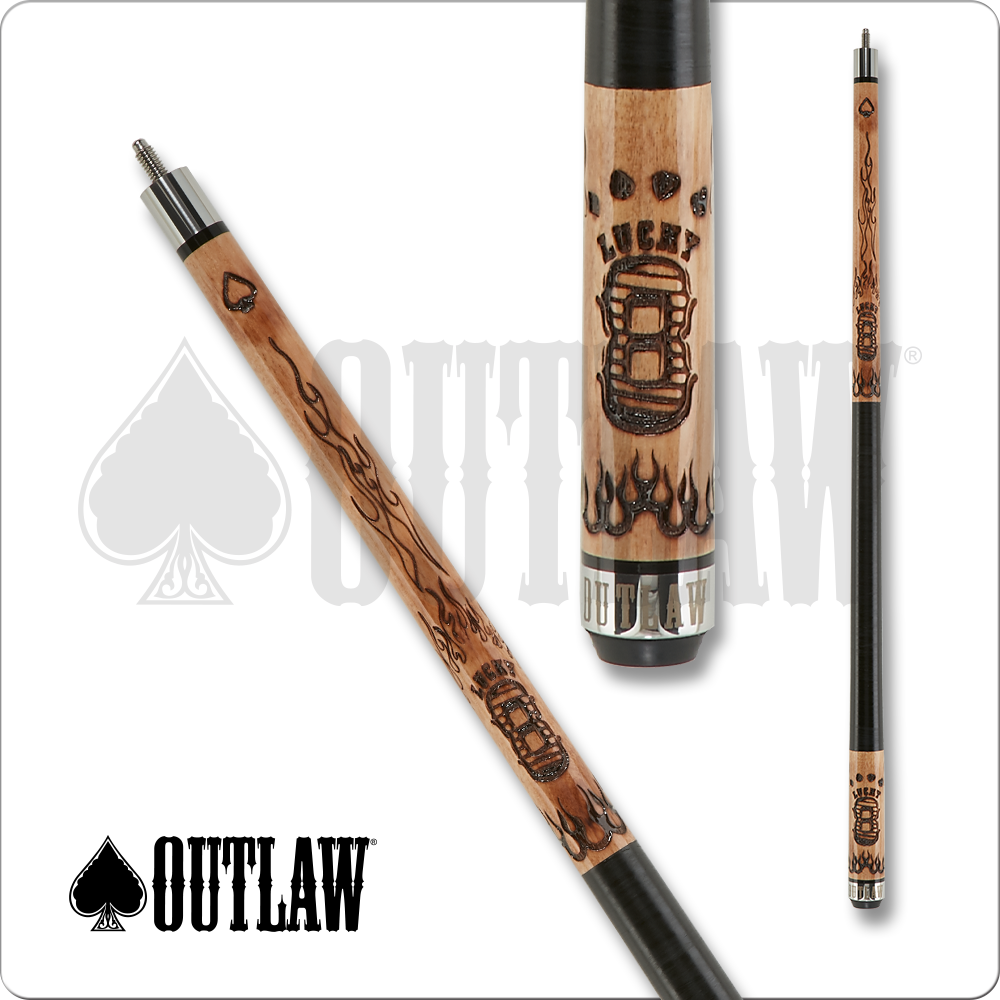 Outlaw OL51 Original Pool Cue - Lucky 8