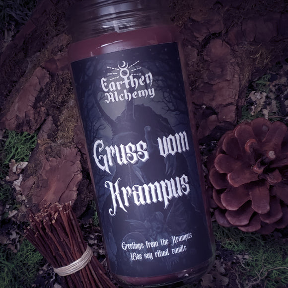 Krampus Holiday Candle