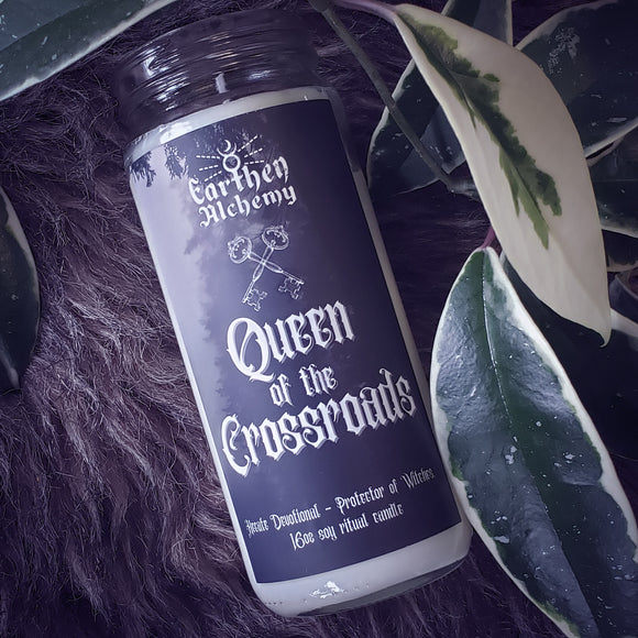 Queen of the Crossroads Ritual Candle