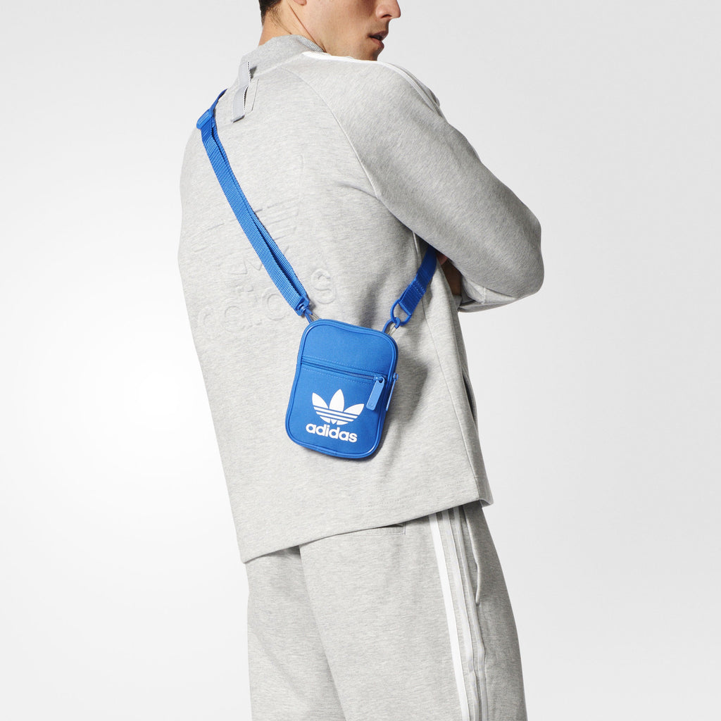 new photos details for best selling Adidas Originals Trefoil Festival Bag - Blue