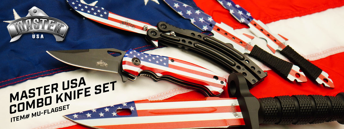 Master USA Combo Knife Set