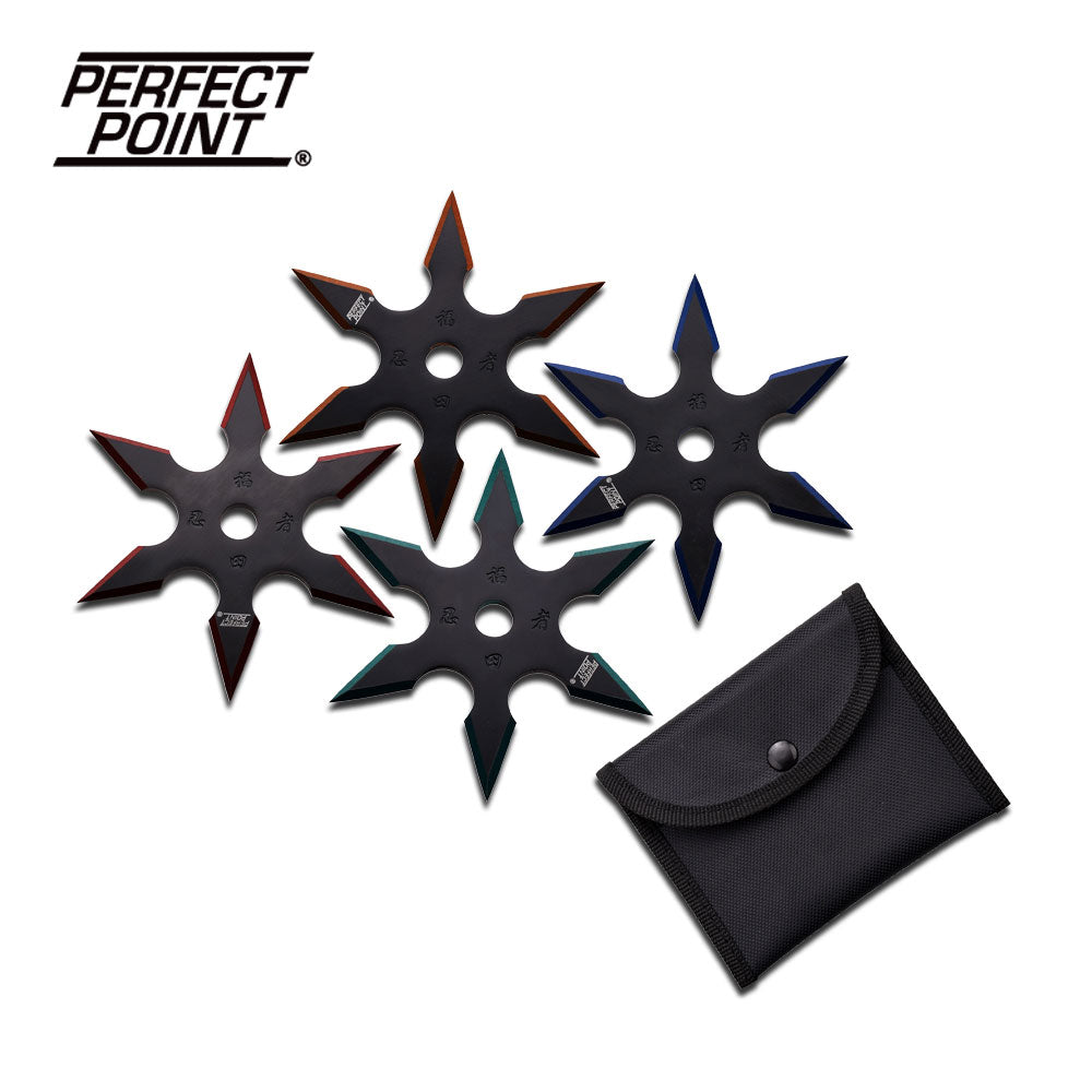 Perfect Point 90-16-4 Throwing Star Set