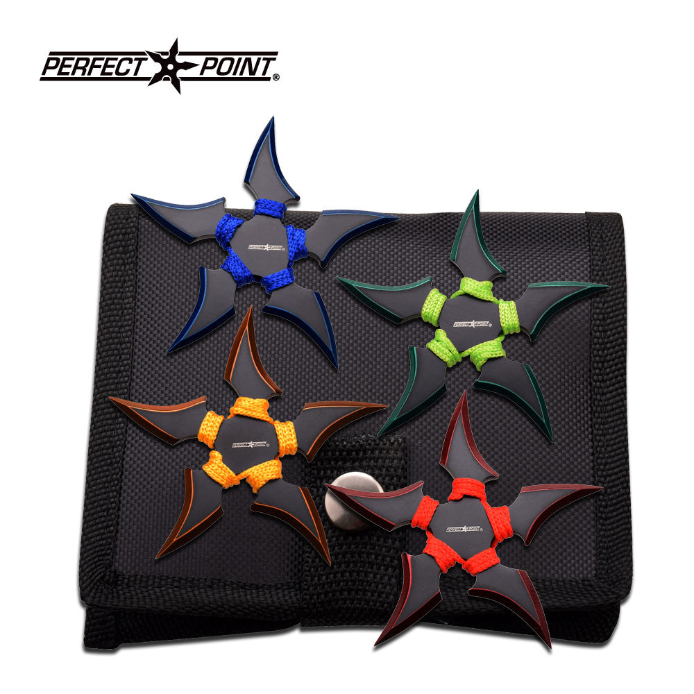 Perfect Point 90-45-4 Throwing Star Set