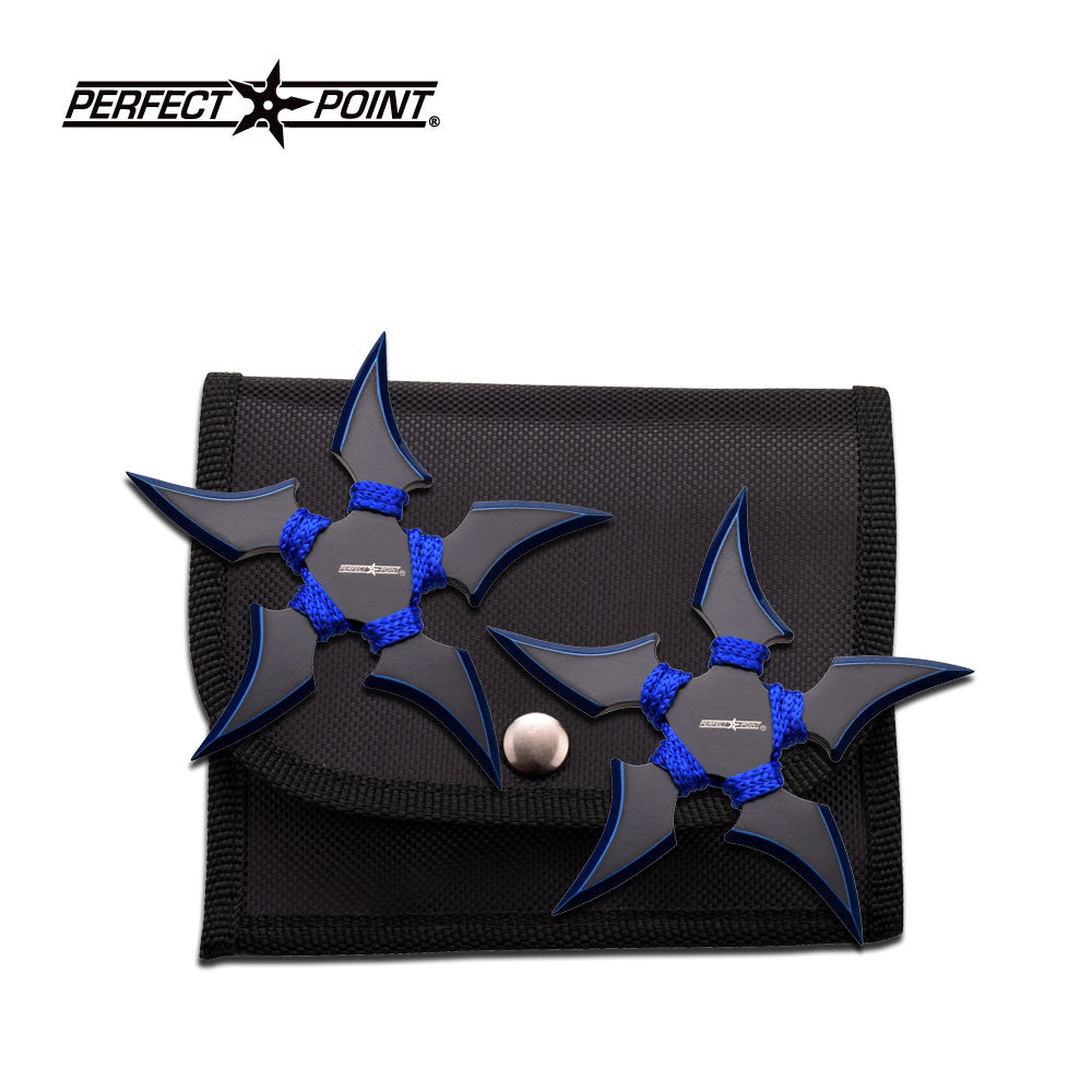 Perfect Point 90-45BL-2 Throwing Star Set