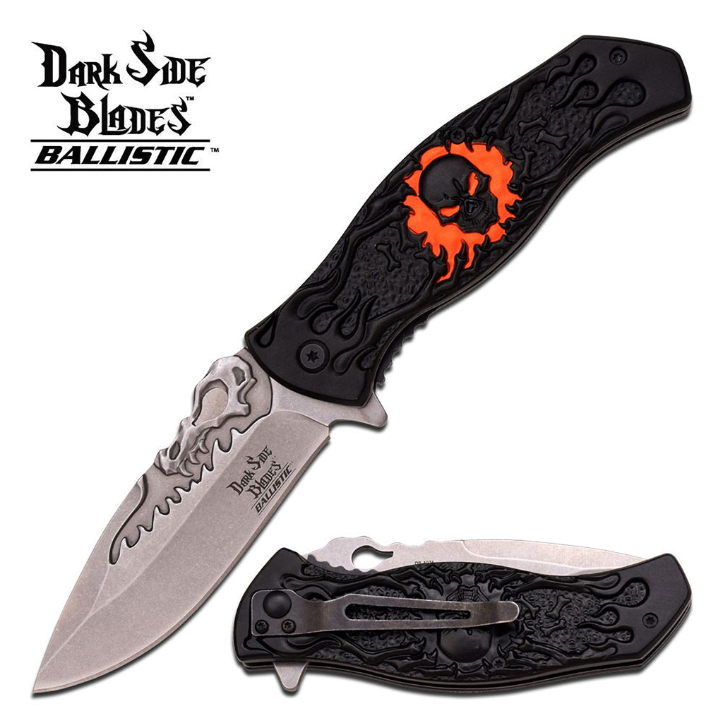 Dark Side Blades DS-A024OR Spring Assisted Knife