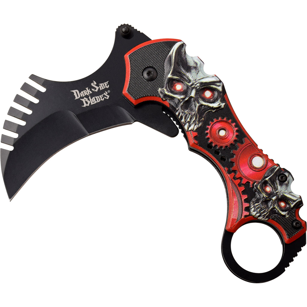 Darkside Blades DS-A075RD Spring Assisted Knife
