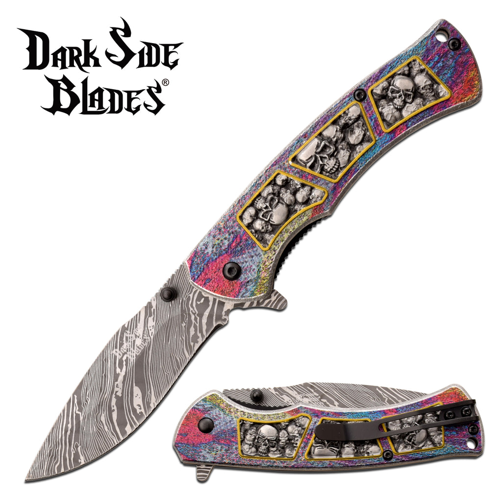 Darkside Blades DS-A085GY Spring Assisted Knife