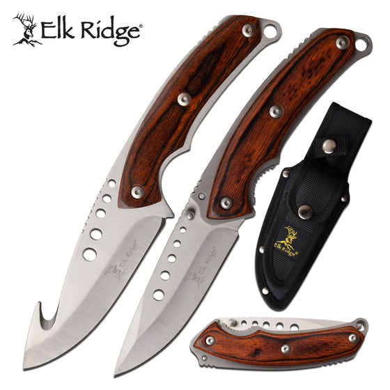 Elk Ridge ER-054BR Hunting Knife Set