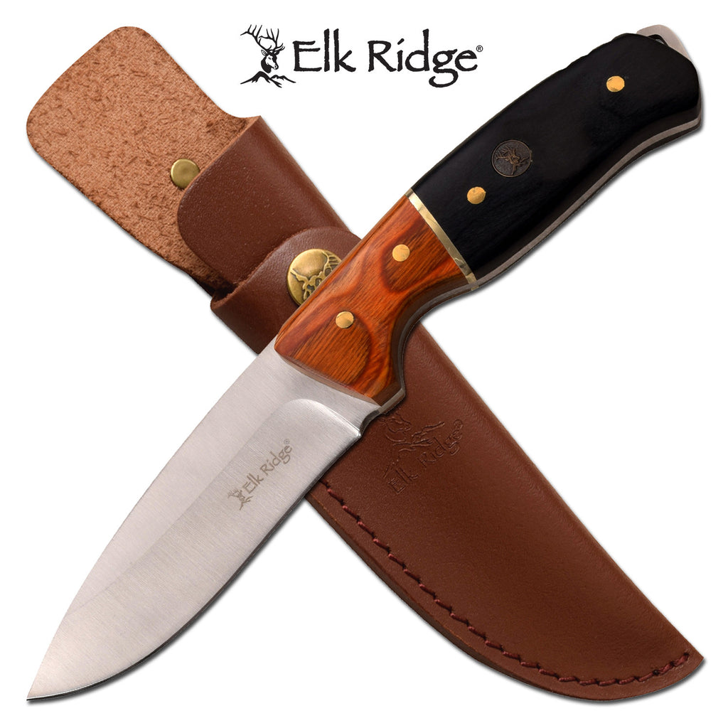 Elk Ridge ER-200-19DBK Fixed Blade Knife