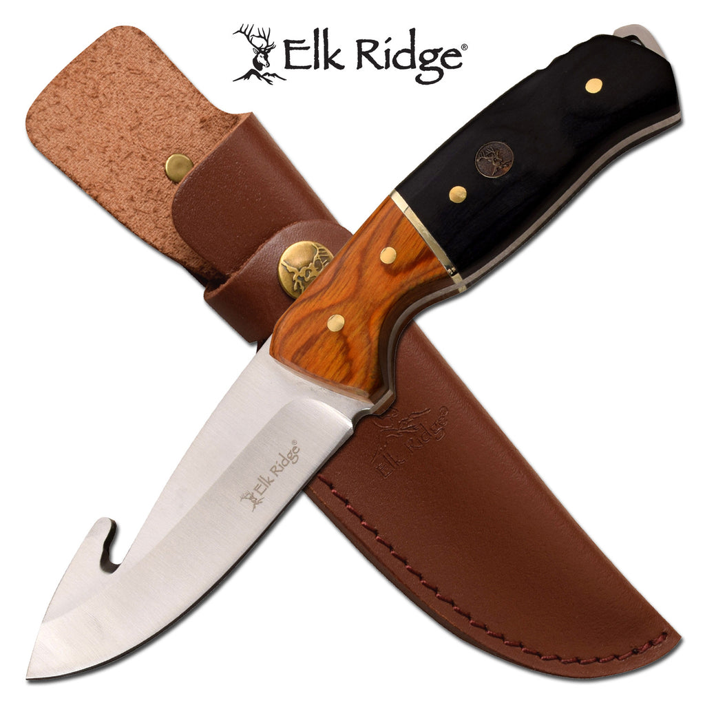 Elk Ridge ER-200-19GBK Fixed Blade Knife