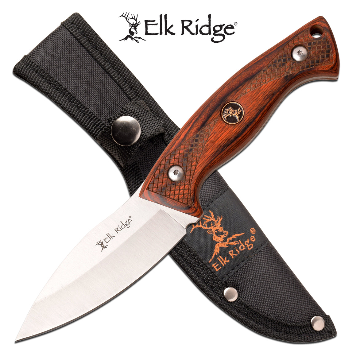 Elk Ridge ER-200-22BR Fixed Blade Knife