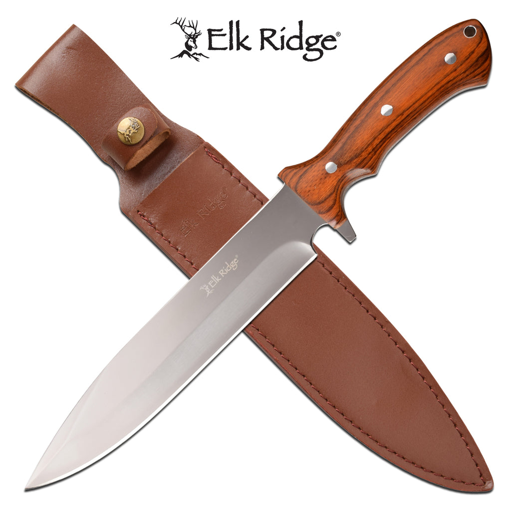 Elk Ridge ER-200-25BR Fixed Blade Knife
