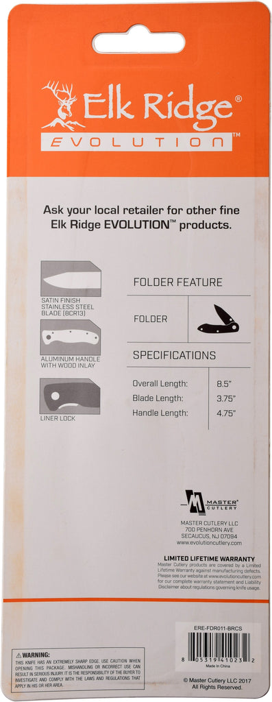 Elk Ridge Evolution ERE-FDR011-BR Folding Knife