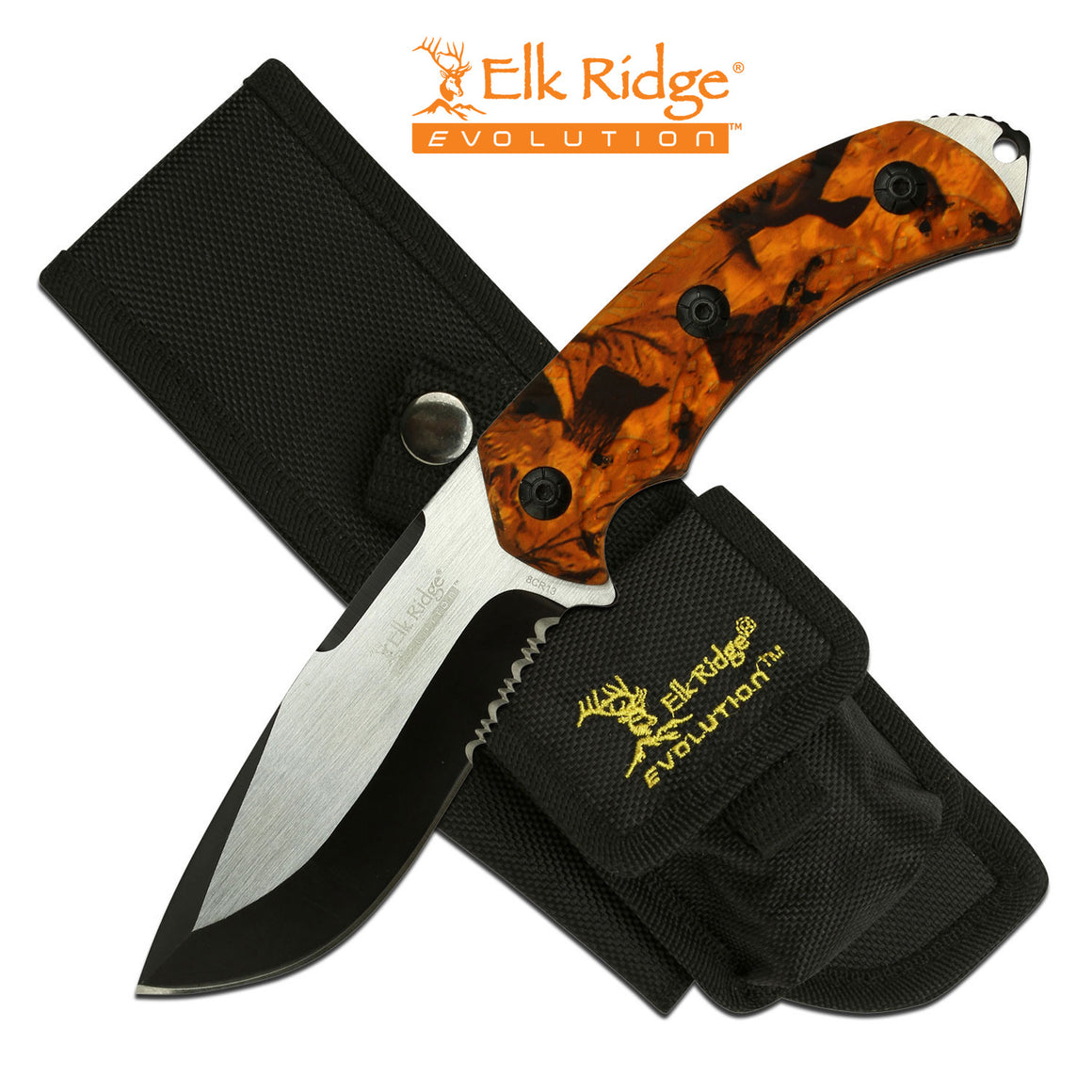 Elk Ridge Evolution ERE-FIX002-OR Fixed Blade Knife