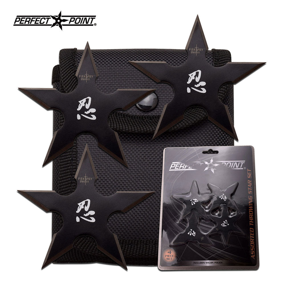 Fantasy Master FM-431-4CS Throwing Star Set