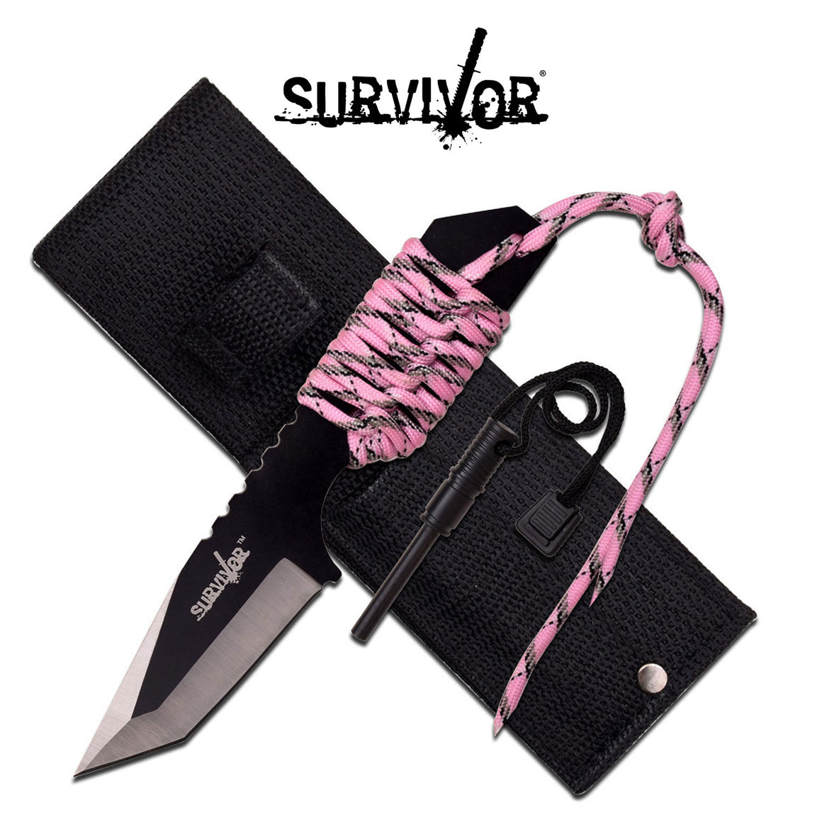 Survivor HK-106320PK Fixed Blade Knife