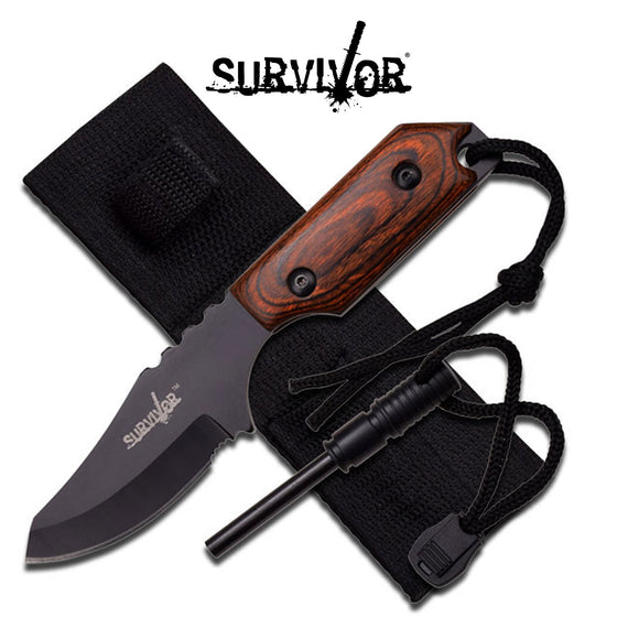 Survivor HK-106321BW Fixed Blade Knife