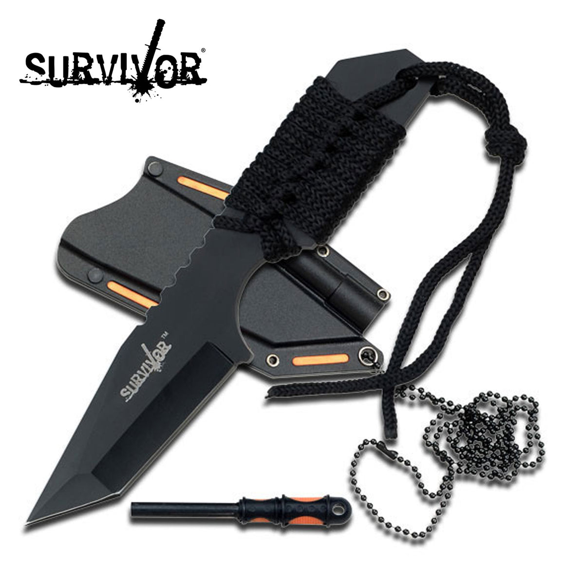Survivor HK-762BK Fixed Blade Knife
