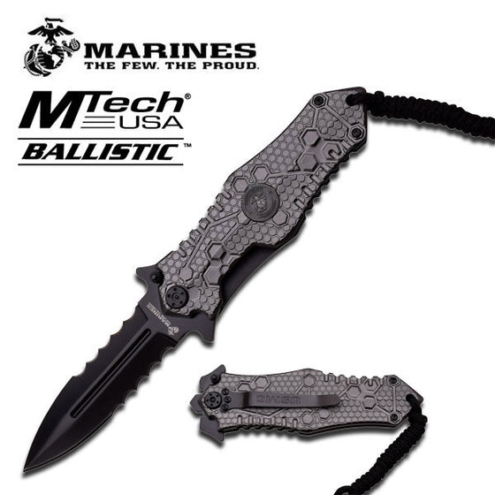 USMC M-A1037GY Spring Assisted Knife