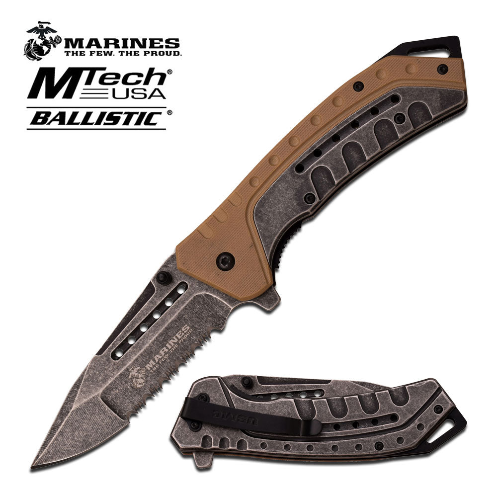 USMC M-A1044TB Spring Assisted Knife