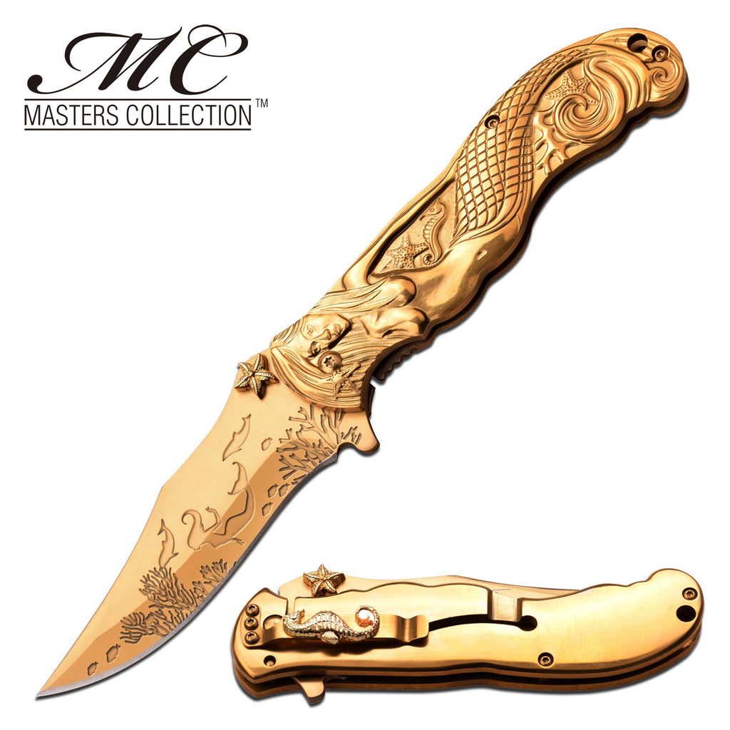 Masters Collection MC-A013GD Spring Assisted Knife