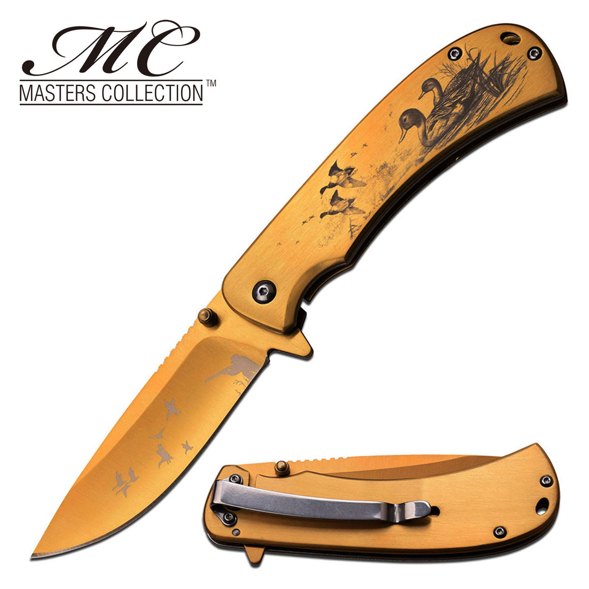 Masters Collection MC-A032GD Spring Assisted Knife