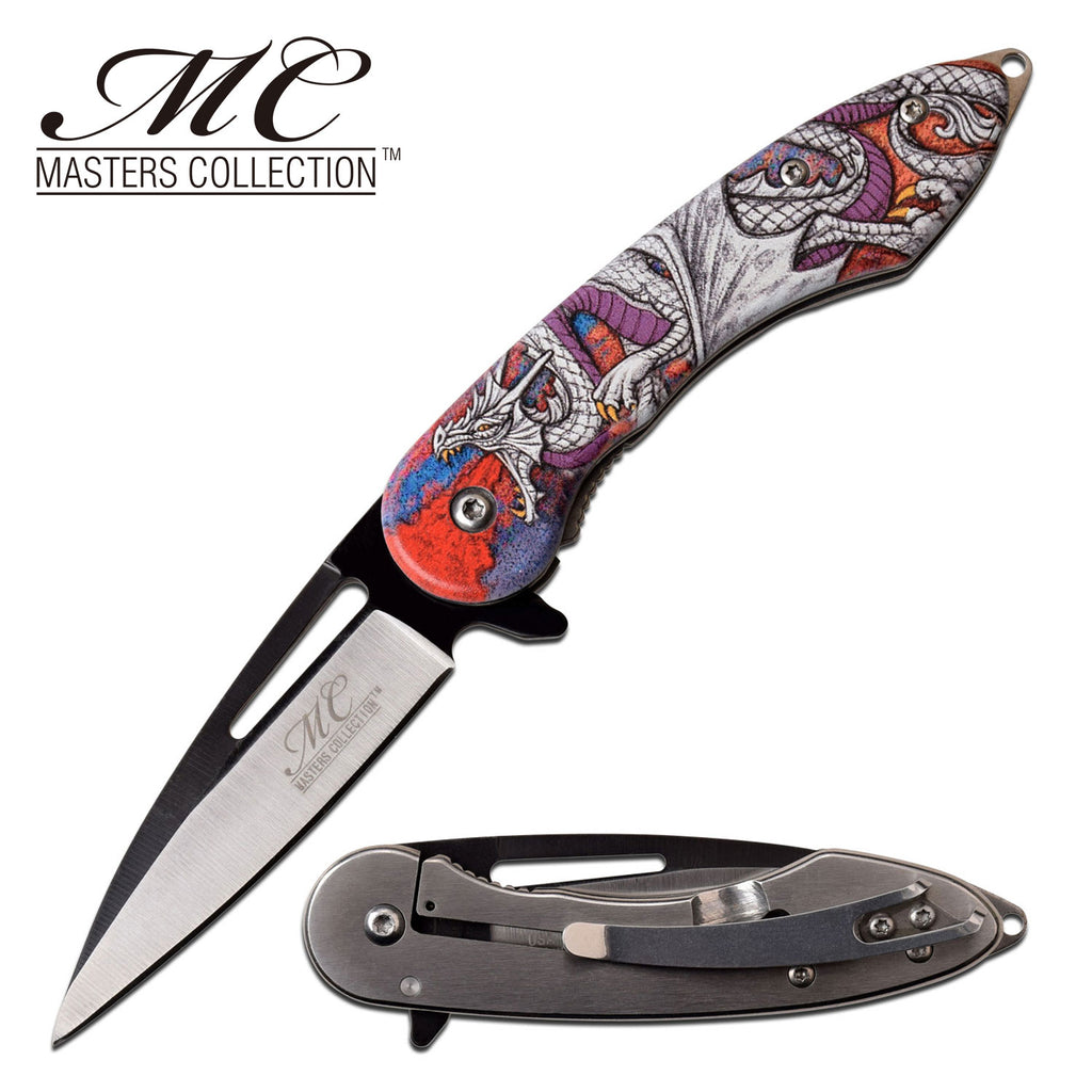 Masters Collection MC-A051WH Spring Assisted Knife