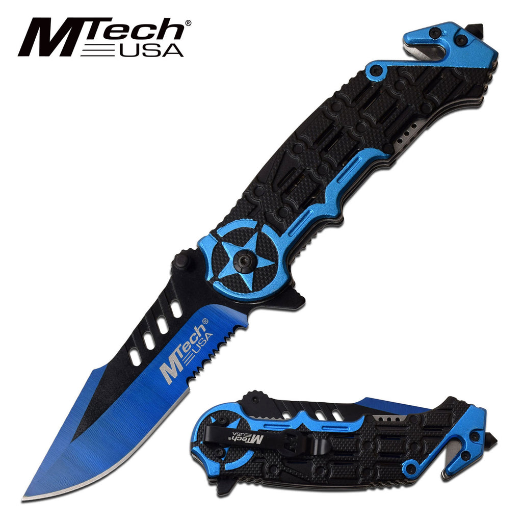 MTech MT-A1008BL Spring Assisted Knife