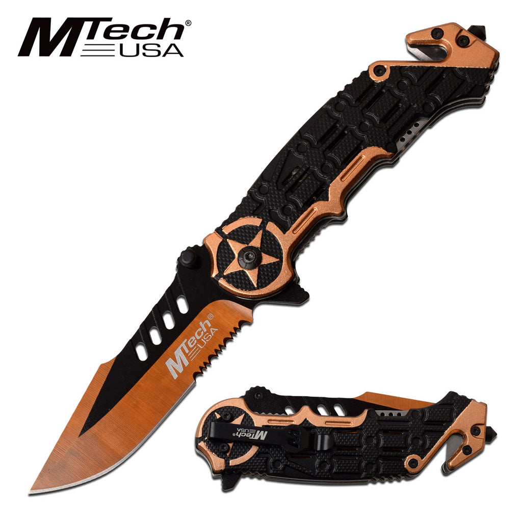 MTech MT-A1008YL Spring Assisted Knife