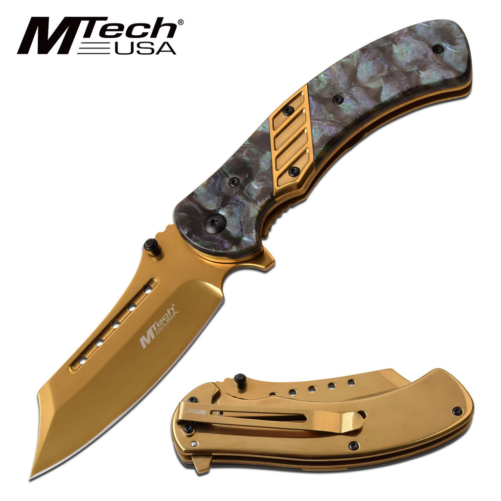 MTech MT-A1021GD Spring Assisted Knife