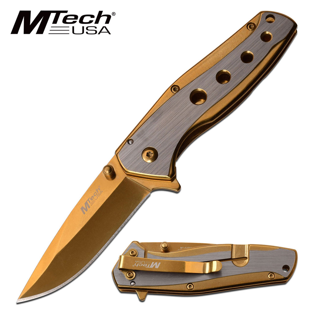 MTech MT-A1044GD Spring Assisted Knife