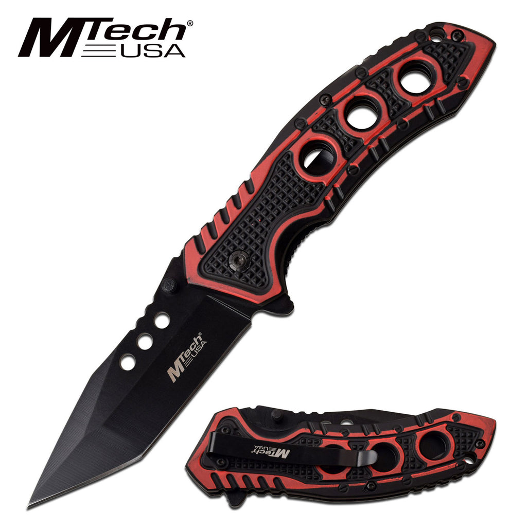 MTech MT-A1059RD Spring Assisted Knife