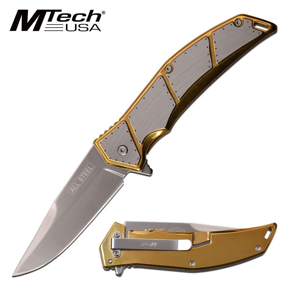 MTech MT-A1097GD Spring Assisted Knife