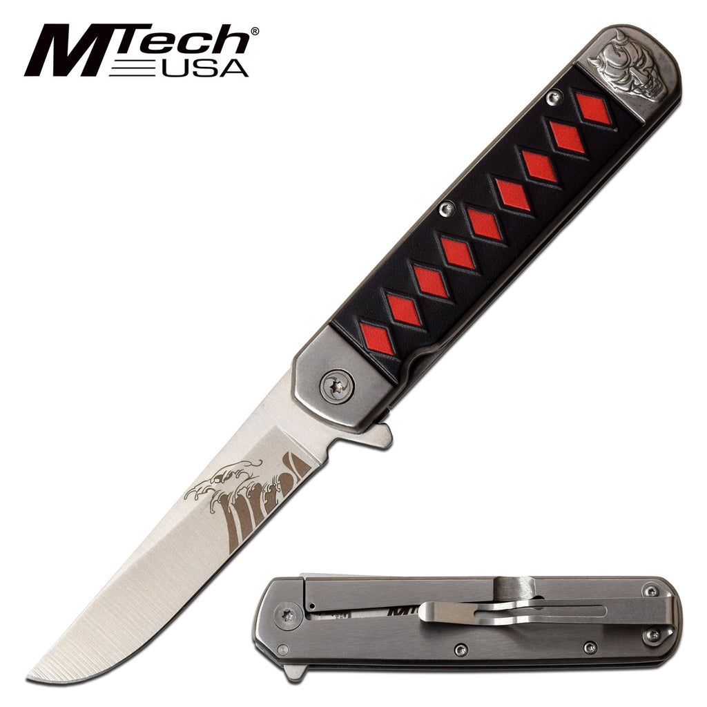 MTech MT-A1099RD Spring Assisted Knife