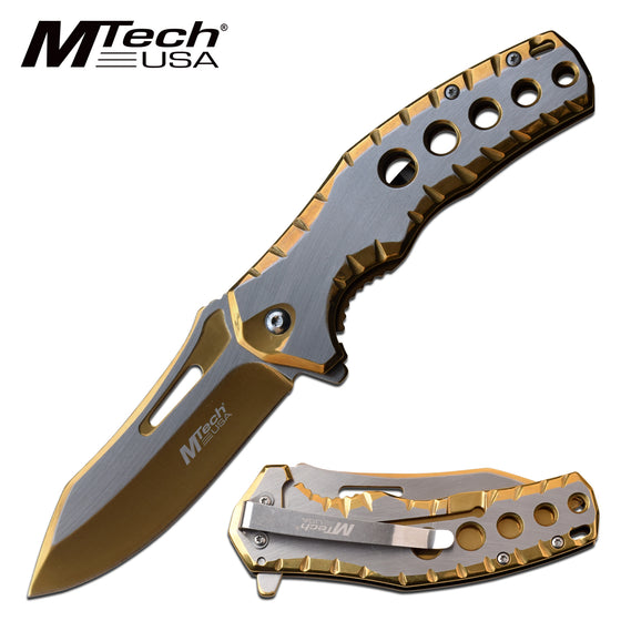 MTech MT-A1124GD Spring Assisted Knife