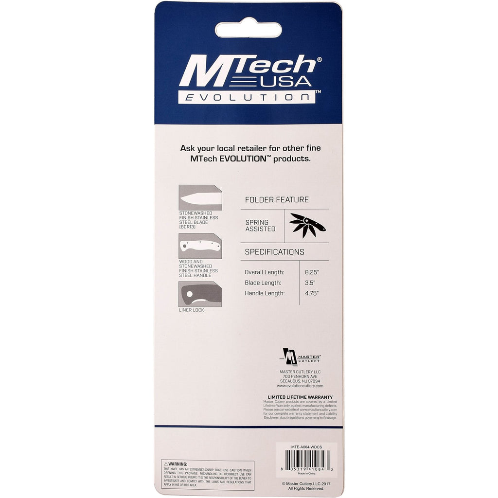 MTech Evolution MTE-A004-WD Spring Assisted Knife