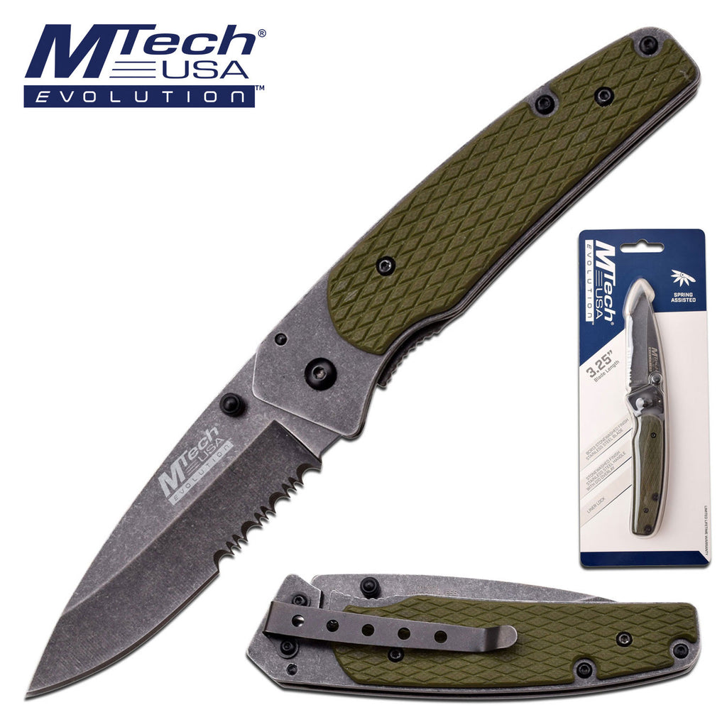 MTech Evolution MTE-A008-GN Spring Assisted Knife