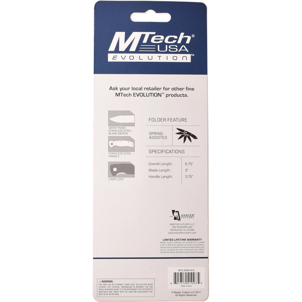 MTech Evolution MTE-A009-S Spring Assisted Knife