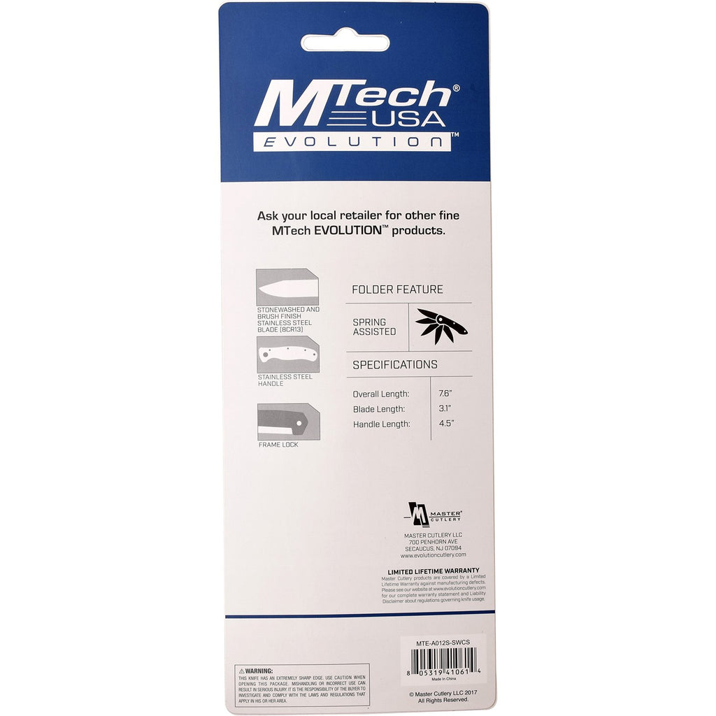 MTech Evolution MTE-A012S-SW Spring Assisted Knife