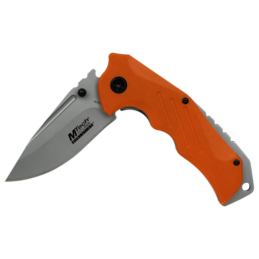 MTech Evolution MTE-A022-OR Spring Assisted Knife