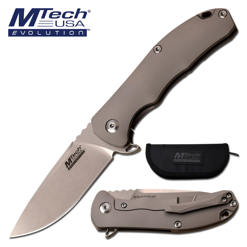 MTech Evolution MTE-FDR022-GY Manual Folding Knife