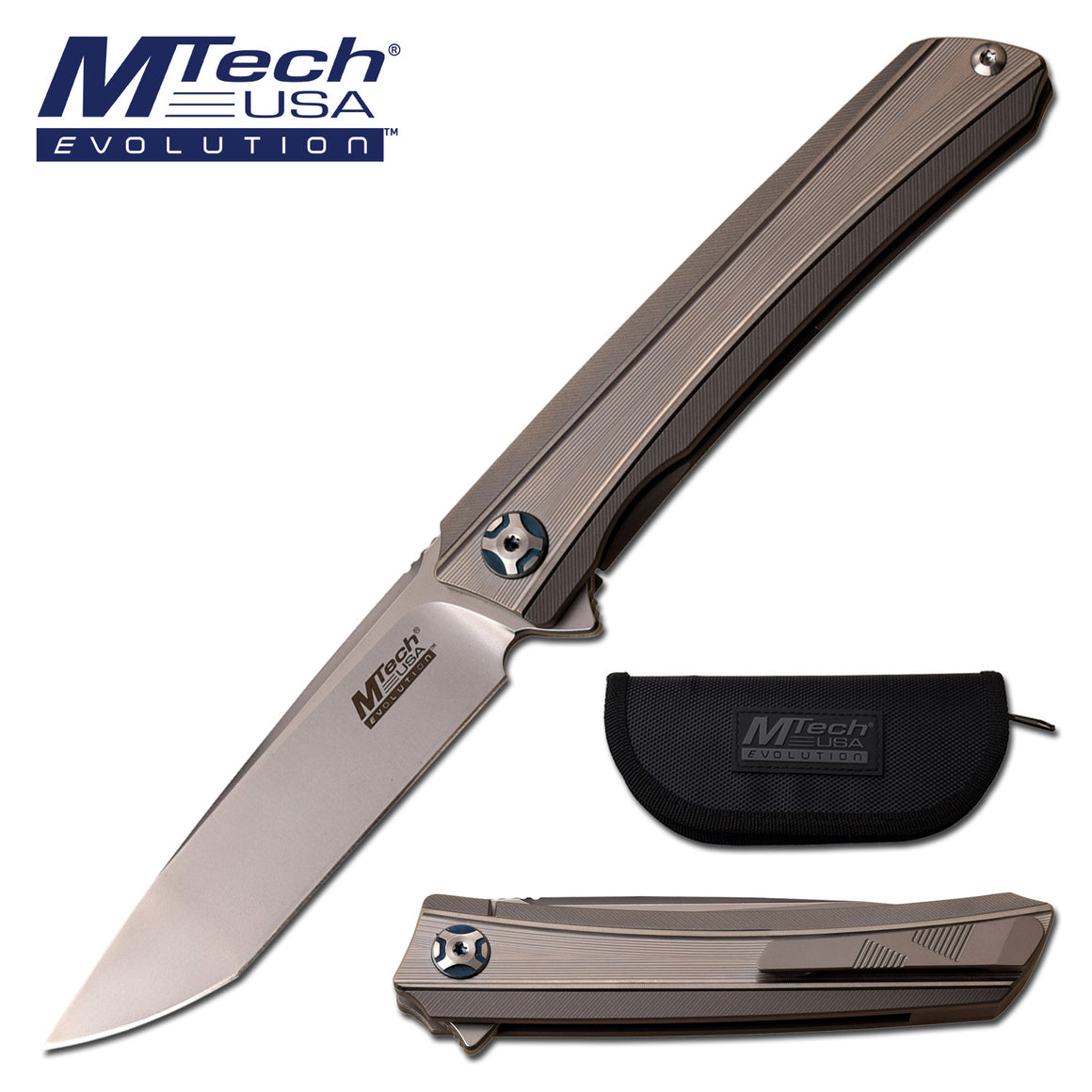 MTech Evolution MTE-FDR023-GY Manual Folding Knife
