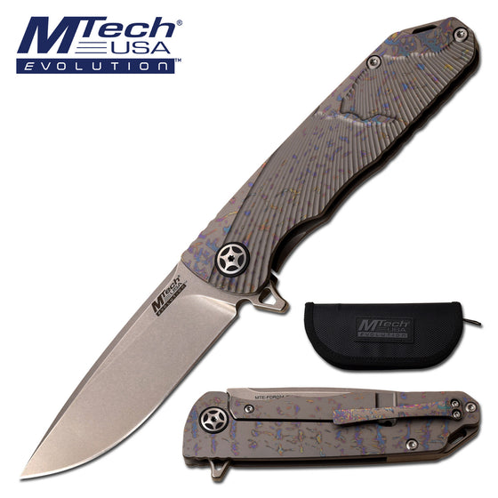 MTech Evolution MTE-FDR024-GY Manual Folding Knife